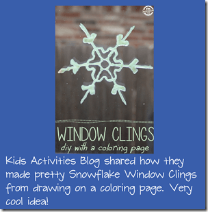 DIY Window Clings from fabric paint and coloring sheets