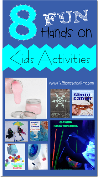 8 Fun Hands on Kids Activities for January