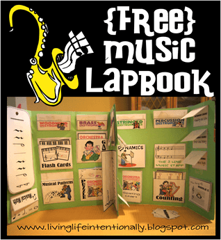 Kids Learn Music - I love this free printable music lapbook for kids from preschool, kindergarten to elementary age kids. Covers notes, dynamics, instruments, classics and more! Great for homeschoolers.