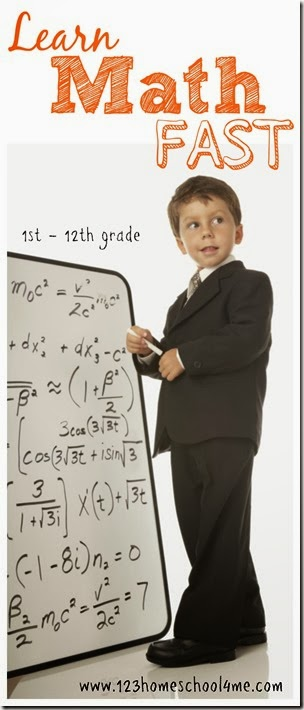 learn math fast - affordable, easy to use homeschool math program for 1st - 12th grade