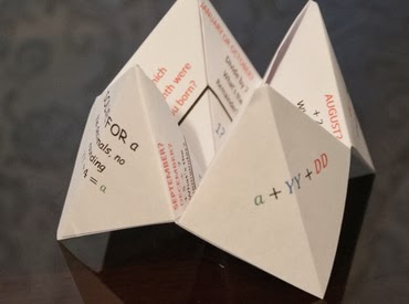 Free printable Math Origami  from Learn Math Fast