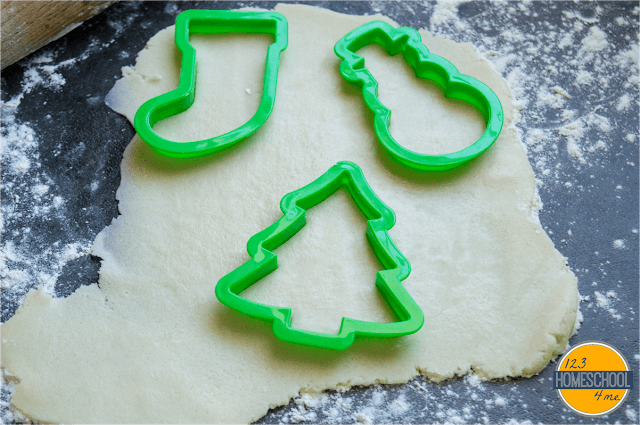 roll out sugar cookie recipe and use cookie cutters