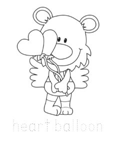valentiens day coloring pages