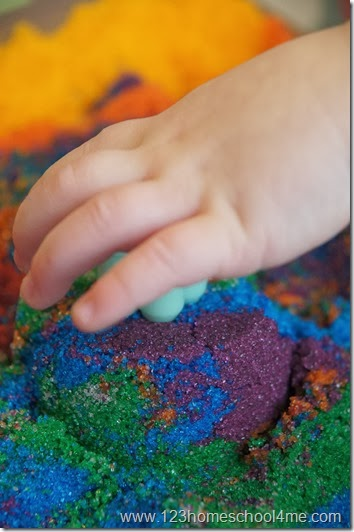 Build sandcastles inside with homemade sand