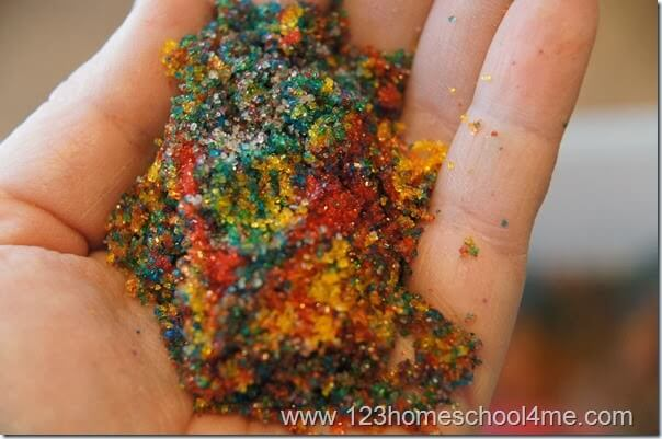 Homemade Sand is simple to make, cheap, safe, and fun to play with.