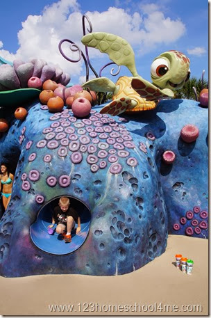 Finding Nemo Play Area at Art of Animation in Disney World