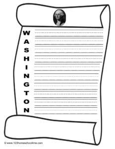 George Washington Writing Prompt
