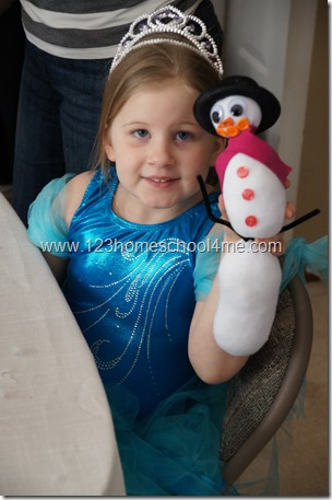 Make your own snowman frozen party game