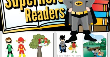 Encourage your little superhero fans to read with these super cute, free printable superhero books! We have super hero readers for toddler, preschool, pre k, kindergarten, first grade, and 2nd grade students. Each sight word reader has simple, easy-to-read text, filled with kid favorite characters like Batman, Superman, Flash, Green Lantern, Spiderman, and more!