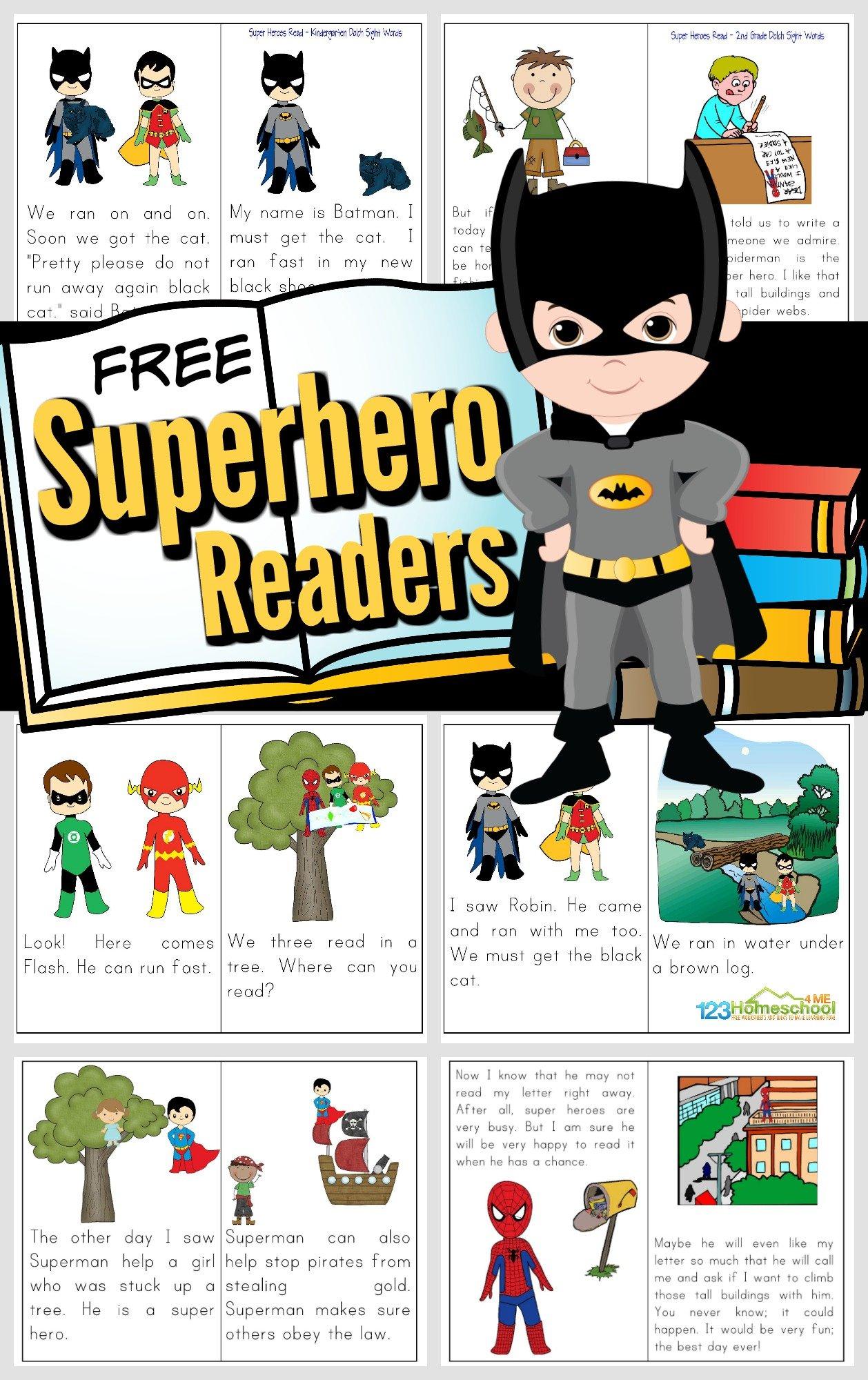 Free Printable Superhero Reader Books