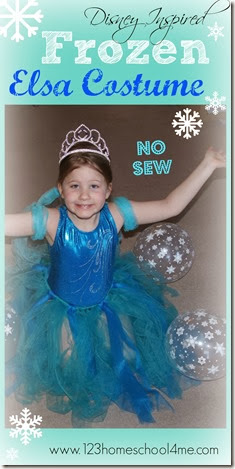 No Sew Disney Frozen Elsa Costume for Kids
