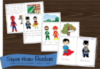 Super Hero Emergent Reader for preschool, kindergarten, first grade, and 2nd grade kids