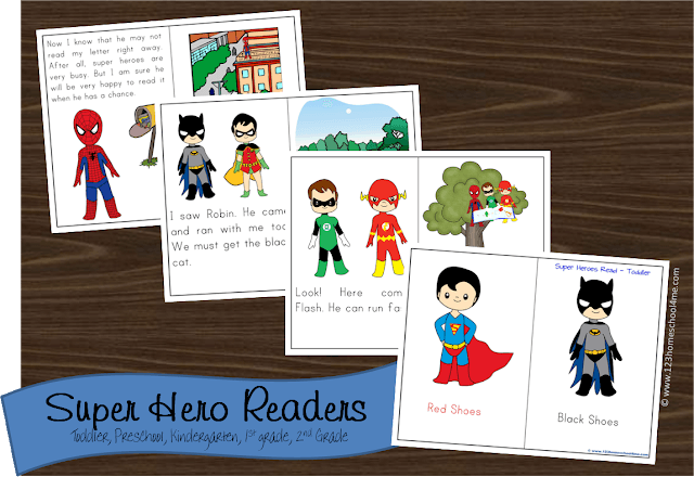FREE Printable Superhero Books | 123 Homeschool 4 Me
