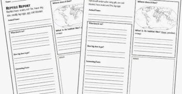 FREE Animal Report Form Printable
