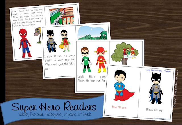 free super hero reader books 123 homeschool 4 me