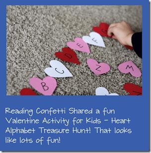 Valentine Alphaet Treasure Hunt Kids Activity