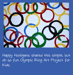 Olympic Ring Painting Activity for Kids