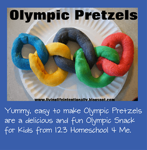 Olympic Pretzel Snack for Kids with easy recipe
