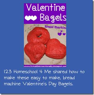 Bread machine Valentine's Day Bagels for Kids