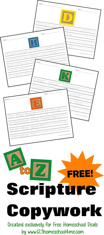 Worksheets for Kids - Bible Verse copywork