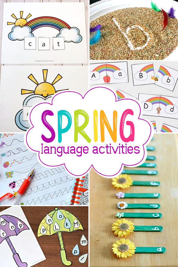 learn abcs, practice reading sight words, sound out cvc words, work on rhyming, and more fun literacy ideas for spring