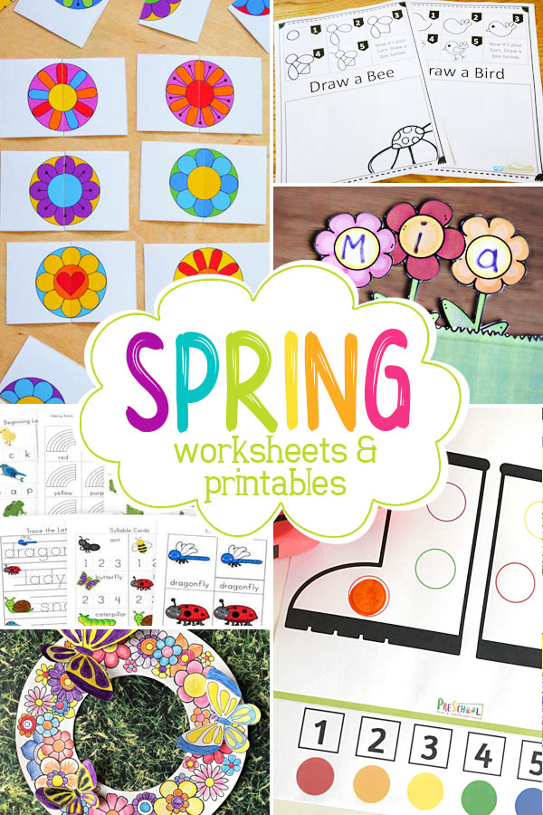 Free Spring Printables  There are so many great spring printables and spring worksheets for kids of all ages, you are sure to find some fabulous spring worksheets and ideas on this list.