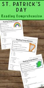 st patricks day worksheets reading comprehension