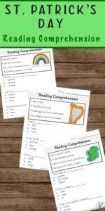 st patricks day worksheets reading comprehension