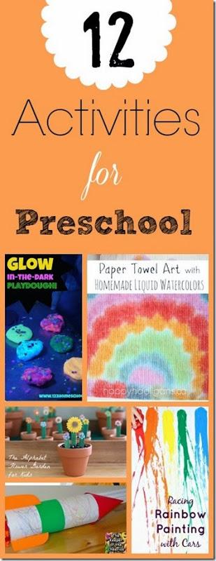 12 Activities for Preschoolers