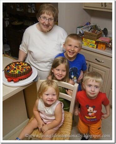 Beautiful Basket Chocolate Cake for Grandma's Birthday