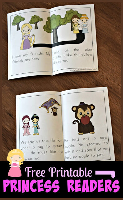 image regarding Printable Sight Word Books known as Cost-free Princess Reader Textbooks 123 Homeschool 4 Me