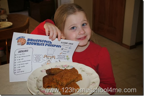 delicious Butterscotch brownies  while learning French with Baker's Passport