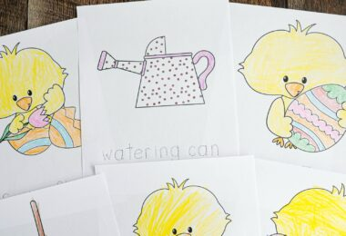 FREE Spring Coloring Pages - super cute, free printable sheets for toddlers, preschooler, pre k, kindergarten including chicks, flowers, Easter Egg, baskets, garden tools, and more! Great for Easter and spring!