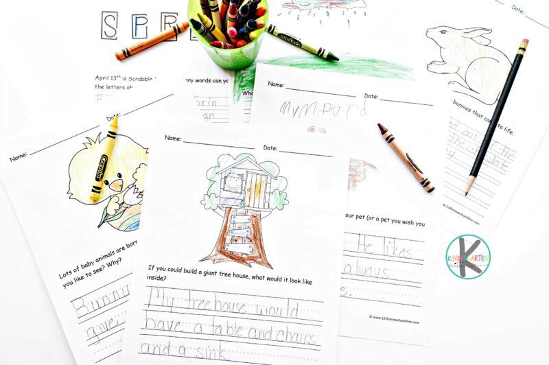 super cute free printable april journal prompts