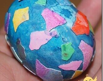 Egg Shell Mosaic Easter Egg