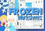FREE Frozen Worksheets - preschool pack for kids to practice math, alphabet and literacy alongside Anna, Elsa, Olaf, Sven, Kristof and more!