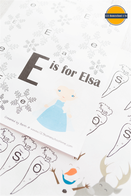 frozen worksheets for kids preschool, prek, kindergarten, first grade