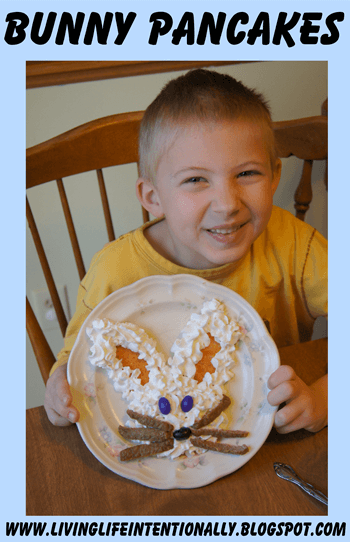 Bunny Pancakes - Spring Food Fun for Kids #recipes #easter