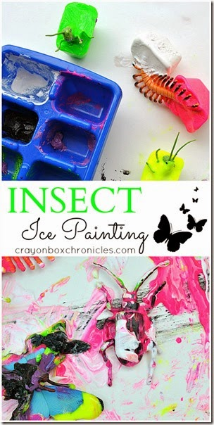 Melting Insect Sensory Painting for Spring from Crayon Box Chronicles