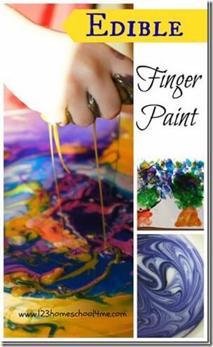 Edible Finger Paint from 123 Homeschool 4 Me