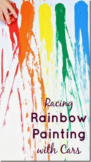 Racing Rainbow Painting from Fantastic Fun & Learning