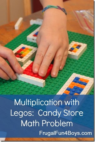 Multiplication with Legos from Frugal Fun with Boys