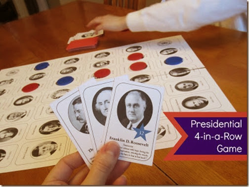 Presidential Social Studies Game from Relentlessly Fun Deceptively Educational