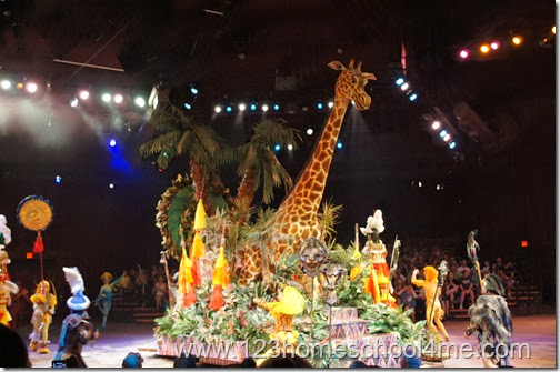 Festival of the Lion King is a brightly colored show filled with amazing singing, acrobatic monkeys, and more at the Animal Kingdom