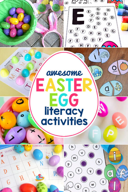 Easter Worksheets - Egg Language and Literacy Activities