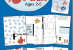 FREE Fish preschool worksheets - these free printable alphabet and literacy activities have a fish theme to make learning fun for toddler, preschool, and kindergarten age kids #preschool #preschoolworksheets #kindergarten