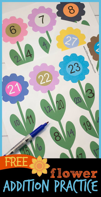 FREE Flower Number Bonds is such a fun math activity for kindergarten and first grade kids to practice addition.perfect for spring math center