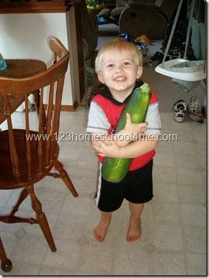 Kids Gardening GIANT Zucchini