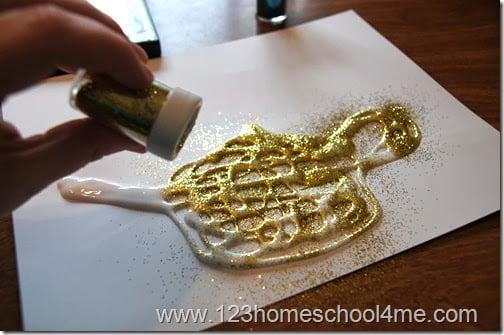 Aladdin Sand Art Craft for Families
