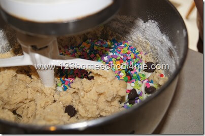 our colorful cookie dough